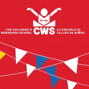 cws logo on red background with primary color celebration flags